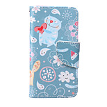 Cat Pattern PU  Material Card Bracket  Case for iPod Touch 5  /6