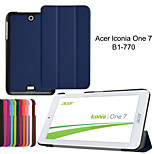 2015 new Tri-Fold Ultra Slim Leather Case Cover for Acer Iconia One 7 B1-770 7