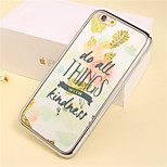 Letter Flowers Pattern Plating TPU Phone Case for iPhone 5/5S