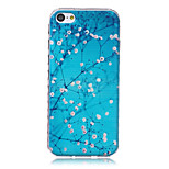 Branches Pattern Waves Slip Handle TPU Soft Phone Case for iPhone 5C