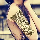 Spoken Of Jesus   Waterproof Flower Arm Temporary Tattoos Stickers Non Toxic Glitter