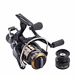Metal Spinning Reel J3FR40 Gear Ratio 5.5:1 Fishing Reel  9+1 BB Carp Fishing Reel Bait Runner Wheel Spare Spool