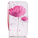 HZBYC®Classic Flowers Pattern PU Material Card Lanyard Case for iPhone 4/4S