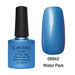 LUNDLE 09942 Soak Off UV Nail Gel Color Gel LED Manicure Gel Water Park