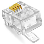 Shengwei® RC-1050 RJ11 Plug 4C 50Pcs for Telephone