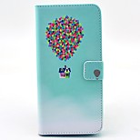 Colorful Balloon with House Pattern PU Leather Stand Case Cover with Card Slot for iPhone 6 Plus/6S Plus 5.5 inch