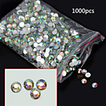 1000PCS  AB Flat Diamond Nail Jewelry