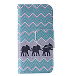 The New Elephant PU Leather Material Flip Card Cell Phone Case for iPhone 5 /5S