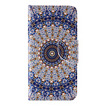 The New Round Flower PU Leather Material Flip Card Cell Phone Case for iPhone 6 /6S