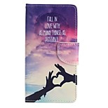 Loving Hand Painted PU Phone Case for Huawei P8 Lite/P8