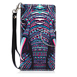 New Lanyard  Color of the Elephant Pattern PU Leather Material Phone Case for Huawei P8 Lite