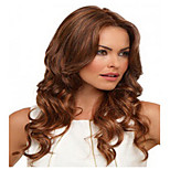 Long Fashion Brown Color Syntheic Wave  Wig
