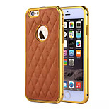 HZBYC® New Lambskin Luxury Leather Lines Genuine Leather Metal TPU Integrated Frame Case for Apple iPhone 5/5S