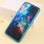 Purple Star Pattern Plating TPU Phone Case for iPhone 6/6S