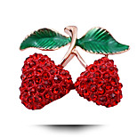 Korean Wedding Ms. Cherry Fruit Brooch