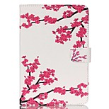 plum blossom Pattern PU Leather Full Body Case with Stand for iPad Mini 3/2/1