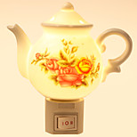 Creative Design Teapot-shaped  Ceramic Lamp Night Light Bedside Lamp Fragrance