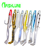 Afishlure Soft Bait Eels with Hooks Lure Packs 2.3 g / 1/10 oz. Ounce 85 mm / 3-5/16