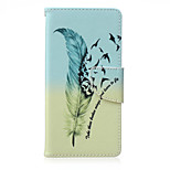 Feather Painted PU Phone Case for Sony Xperia Z5