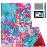 LEXY® Colorful Totem Pattern PU Leather Flip Stand Case with Screen Protector and Stylus for iPad Mini 1/2/3