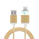 Cwxuan™ Lengthened Micro USB Metal Magnetic Adhesion Braided Charging Cable  (100cm)