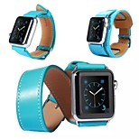 3 in 1 Luxury Leather watch Band strap Bracelet Replacement Wrist Band With Adapter Clasp For Apple Watch 42mm/38mm