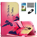 COCO FUN® Fairies Pattern PU Leather Case with V8 USB Cable, Flim, Stylus and Stand for Samsung Galaxy S4 I9500