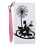 New Lanyard Dandelion Pattern PU Leather Material Phone Case for Huawei P8 Lite