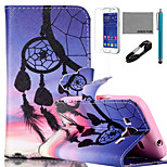 COCO FUN® Sunset Wind-Bell Pattern PU Leather Case with V8 USB Cable, Flim and Stylus for Samsung Galaxy Core Prime G360