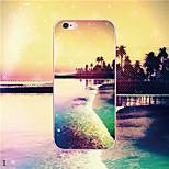 maycari®traveling na ilha de coco TPU soft transparente de volta caso para iPhone5 5s / iphone (cores sortidas)