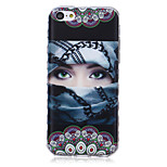 Indian Girl Pattern Waves Slip Handle TPU Soft Phone Case for iPhone 5C
