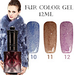 1PCS ANA Fur Color Gel 12Colors Long Lasting Nail Polish 10-12