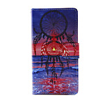 Printed Sea and Dream PU Leather Full Body Case with Stand for Sony Xperia M4 Aqua