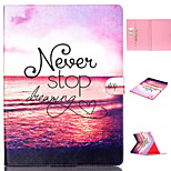 Red Sea Pattern Flip the Card Holder Protection Case for iPad Pro