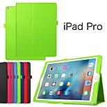 casos de tabletas de protección de cuero funda casos el soporte para el ipad pro (colores surtidos)