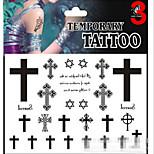 Airbrush Tattoos Non Toxic Glitter Waterproof Multicolored Glitter 1 Package 17*16CM Cross Words Heart