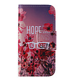 The New Flower PU Leather Material Flip Card Cell Phone Case for iPhone 5 /5S