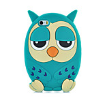2015 Hot Fashion Luxury 3D Cute Owl Face Silicone Back Phone Case Cover for iPhone 5/5S(Assorted Colors)