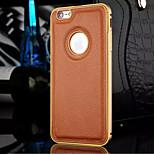 nuova pelle di lusso disegno litchi struttura in metallo e la cassa del telefono backplane per il iphone 6 / 6s (colori assortiti)