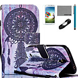 COCO FUN® Dreamcatcher Pattern PU Leather Case with V8 USB Cable, Flim, Stylus and Stand for Samsung Galaxy S4 I9500