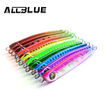 ALLBLUE Metal Jigging Spoon 35g 3D Eyes Artificial Bait Jig Lures Super Hard Lead Fish Fishing Lures
