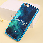 Letter Star Pattern Plating TPU Phone Case for iPhone 6/6S
