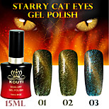 1PCS Starry Cat Eyes Color Gel 15ml 12Colors Long Lasting Nail Polish 1-3