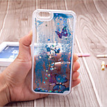 Fun Butterfly Star Liquid Back Quicksand Transparent Clear PC Hard Cover For iPhone5/iPhone5s