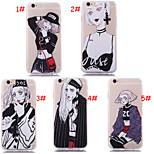New Style Personality Girl Silk Pattern Back Cover for iPhone6/iPhone 6s(Assorted Colors)
