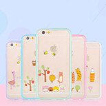 Girl Pink Animal Tree Sugar Candy Color Hard And Soft Case for iPhone 5/5s