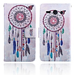 Wind Chime Pattern Card Stand Leather Case for Huawei Y530/Y550