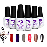Sexy Mix 7ml Nail Art Soak-off UV Gel Nail Polish Color Gel Manicure Kit