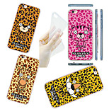 MAYCARI®Animals with Leopard Print Soft Transparent TPU Back Case for iPhone5/iPhone 5S(Assorted Colors)