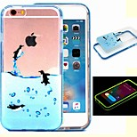 2-in-1 The Three Little Penguins Pattern TPU Back Cover with PC Bumper Shockproof Soft Case for iPhone 6/6S